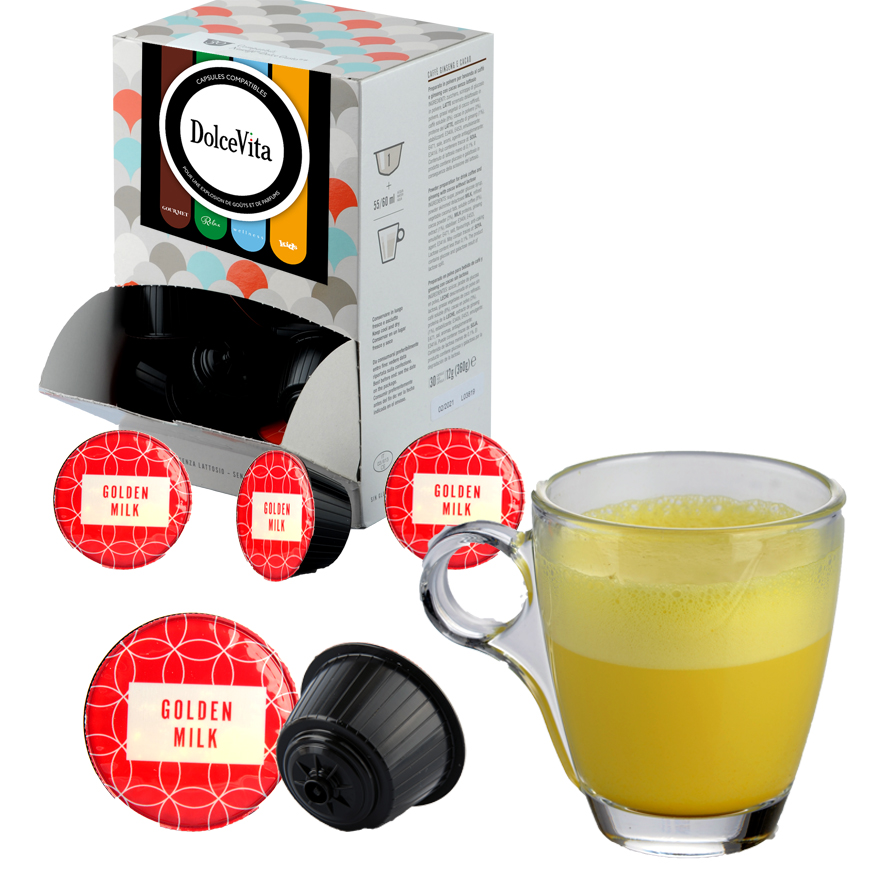 Golden Milk  Curcuma professional  compatible Dolce Gusto® HoReCa DolceVita