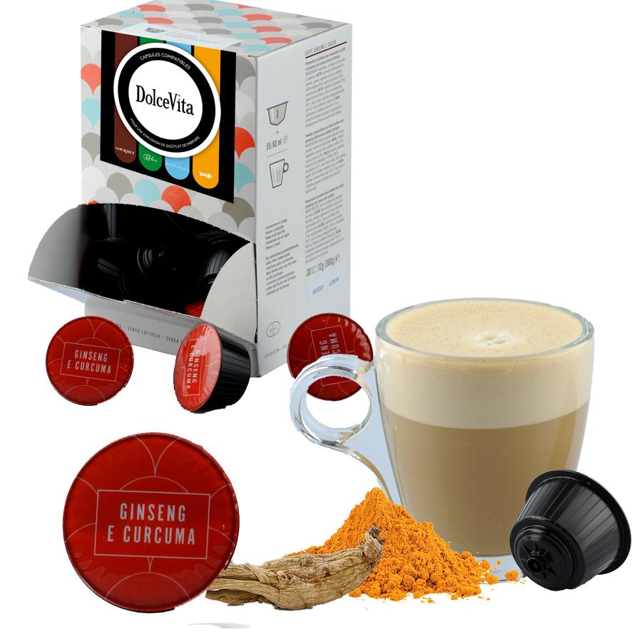Ginseng & Curcuma professional  compatible Dolce Gusto® HoReCa DolceVita