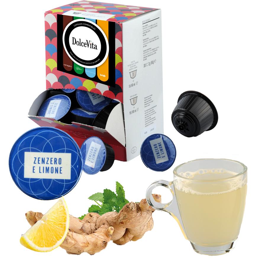 GINGEMBRE CITRON (Devanda Zenzero e Limone) professional  compatible Dolce Gusto® HoReCa DolceVita