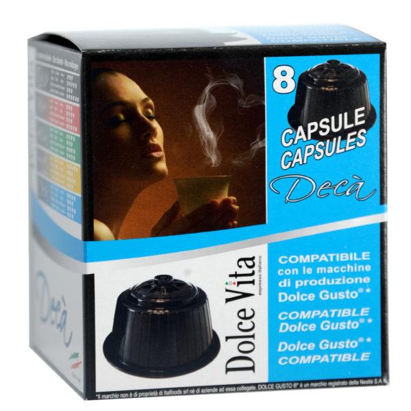 Décaféiné- Dolce Vita, compatible Dolce Gusto 8x