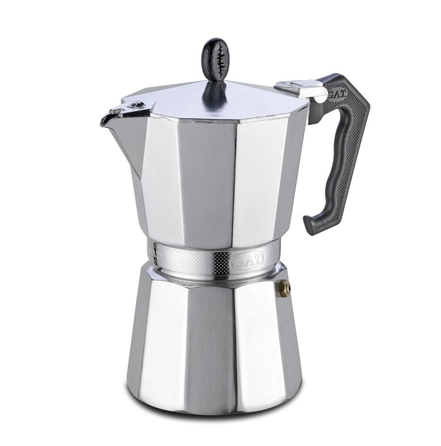 Cafetière 1à 12 tasses  G.A.T. AROMA VIP INDUCTION gaz, plaque électrique, vitrocéramique,